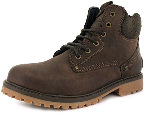new-mens-gents-brown-wrangler-fashion-work-boots-with-padded-collar-brown-uk-size-12