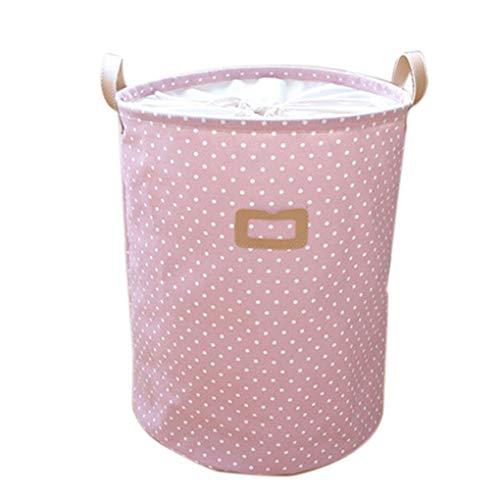 Jinzuke Dot Wäschekorb-Beutel-Kleidung Storage Baskets Startseite Kleidung Barrel Kinder Spielzeug-Speicher-Wäsche-Container -
