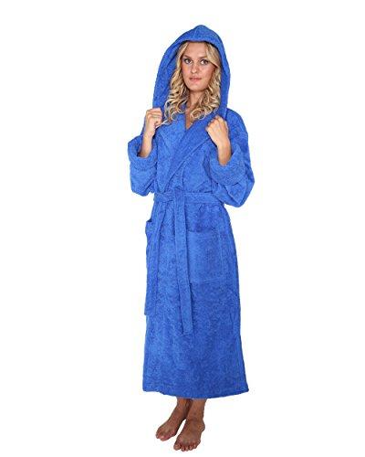 Robe´n Hood - Accappatoio con cappuccio in spugna di 100% Cotone Blu reale