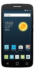 Alcatel Onetouch Pop 2 Smartphone (Dual SIM, 12,7 cm (5 Zoll), FWVGA Display, 480 x 854 Pixel, Android 4.4, Quad Core, 1,2GHz, 8GB), Vulcano schwarz