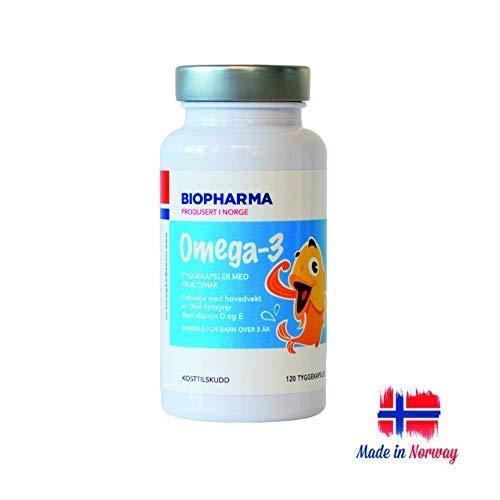 120 Kautabletten Kapseln (Premium Norwegische Omega 3 Kautabletten Kapseln für Kinder, 120 Kapseln)