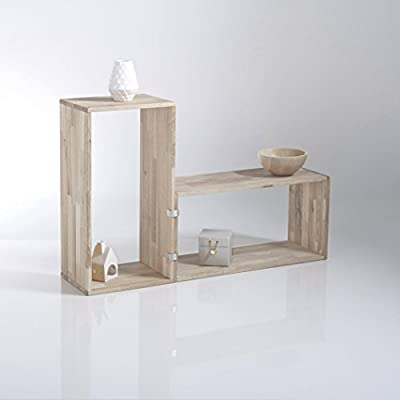 La Redoute Interieurs Edgar Solid Oak Oblong Storage Shelf