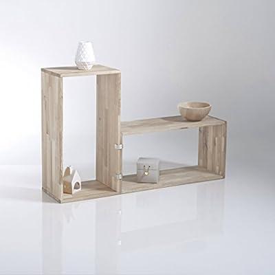 La Redoute Interieurs Edgar Solid Oak Oblong Storage Shelf