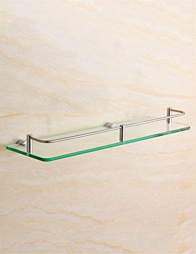 XIAOLIN-- Edelstahl-Glas-Regal-Badezimmer-Hardware-hängendes Badezimmer-einzelne Schicht Verfassungs-Plattform-Zahnstange Badezimmer-Racks ( größe : 30cm )