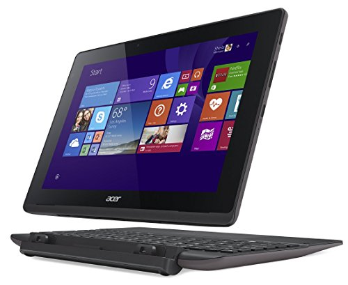 "Acer Aspire Switch 10 E SW3-013 - Portatíl 2 en 1 de 10.1"" (Intel Z3735F, 2 GB de RAM, Disco SSD 32 GB, Windows 8.1 ), gris - Teclado QWERTY Español"