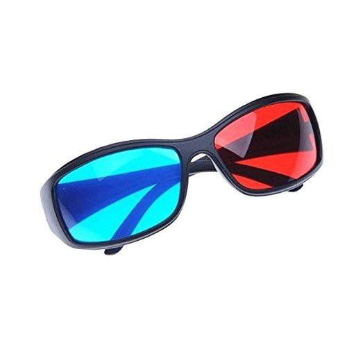 Sonline Rot und Blau/Blaugruen Anaglyph Einfacher Stil 3D-Brille fuer 3D Film Spiel (Extra Upgrade-Stil)