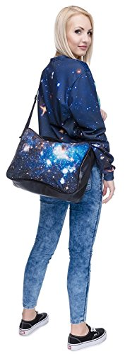 Kukubird Corriere Stampa Vari Cross Body Bag Con Sacchetto Di Polvere Di Kukubird Galaxy
