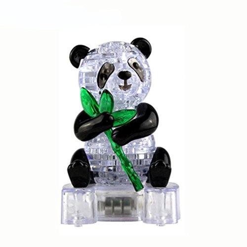 ebäude spielzeug als geschenk 3d kristall puzzle süßen panda modell (Schwarz) (Diy Panda Kostüme)