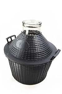 bonbonne en verre 10 l col large avec corbeille cuisine maison. Black Bedroom Furniture Sets. Home Design Ideas