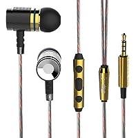 Okun HD50MV Metal Kulakiçi kulaklık 3.5mm stereo kulak içi kulaklık Güçlü Bas iPhone, Samsung, Tablet, PC (Mikrofonlu)