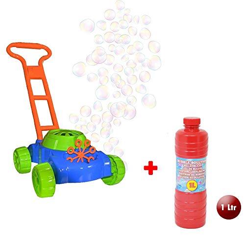 DRULINE Seifenblasen Rasenmäher Gartenspielzeug Für Kinder Mit  GRATIS  1 ltr Bubble Machine Seifenlösung Enthalten | Geschenkidee Für Kinder Ab 4 Jahren | Gartengeräte Und Zubehör | Spielzeug