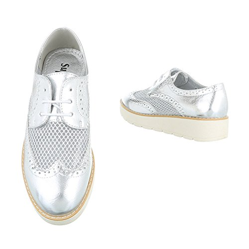 Ital-Design , Chaussures à lacets femme Silber 62015