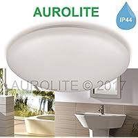 aurolite LED 12W IP44luces de techo, 26cm de diámetro, 950lm, Iluminación para Baño, Cocina, Pasillo, oficina, corredor, De Techo, Lámpara de techo baño, alta calidad, garantía de 1año, 3000K, 12 W