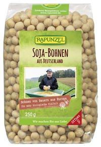 Rapunzel Bio Sojabohnen aus Deutschland, 4er Pack (4 x 250g) - BIO