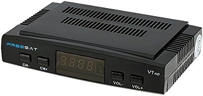 FREE SAT V7 HD DVB-S2 Receptor de TV Vídeo Digital Broadcasting Set Top Box Compatible con USB PVR EPG PowerVu DRE & Biss Key for TV HDTV EU enchufe