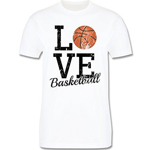 Basketball - Love Basketball - Herren Premium T-Shirt Weiß