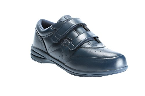 Propet W3845 Ladies Velcro Comfort Lightweight Casual 'Washable' Leather walker in UK 3-9 (7, NAVY)