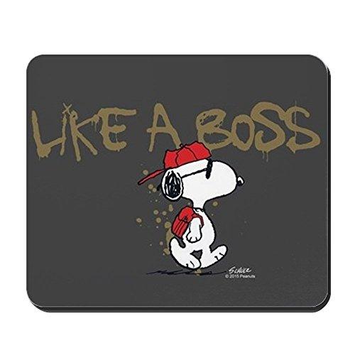 CafePress-Peanuts Snoopy Like A Boss-Rutschfeste Gummi Mauspad, Gaming Maus Pad