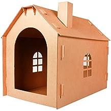 JiuErDP Casa de Gato Corrugado Gato camada Gato de la casa Gato Juguete Gato Garras cartón