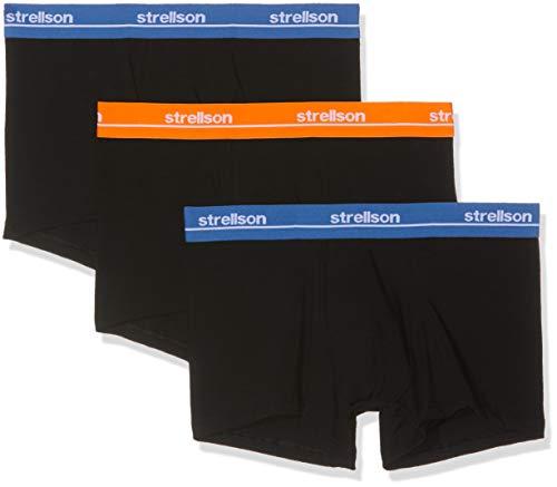 Strellson Bodywear Herren Set Shorts Hipster, Schwarz (Super Black 129), Large (erPack 3)
