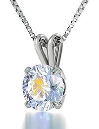 925 Sterling Silber Horoskop Halskette Sternzeichen Wassermann Graviert mit 24k  Gold auf 8mm Swarovski Anhänger, 45cm Silberkette… 117472cda0