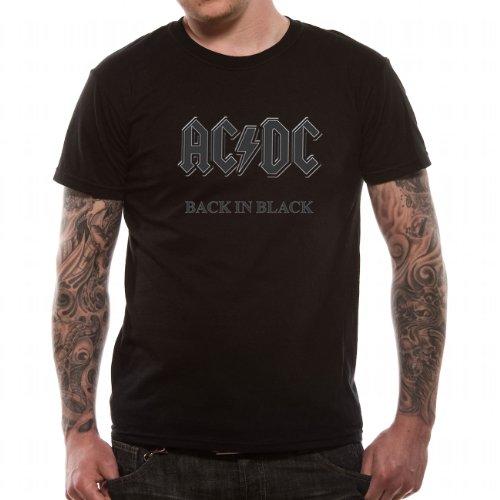 AC/DC - BACK IN BLACK, T-Shirt, Medium (Gr.M) guys tee -