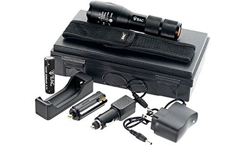1TAC TC1200 High Power Tactical Flashlight with Real CREE XM-L3 LED | 1200  Lumens, Zoom & Adjustable, 5 Light Modes, Ultra Bright and Waterproof (Kit)