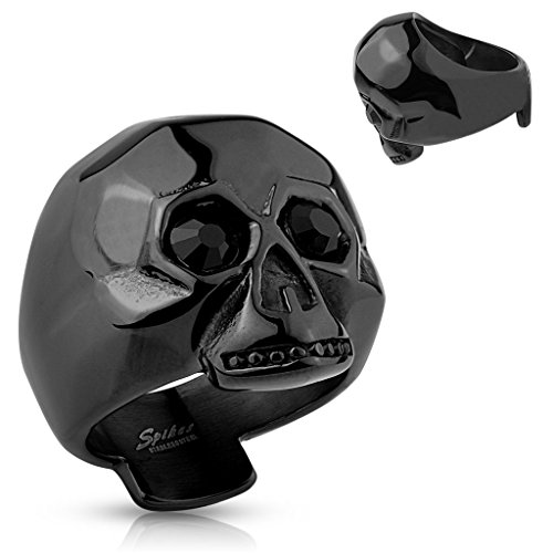 Anello nero uomo BlackAmazement timando Black Eye Skull usato  Spedito ovunque in Italia