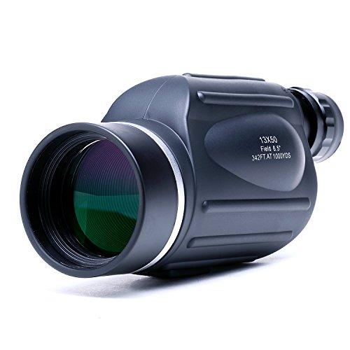 USCAMEL 13x50 Leistungsstarke Monokular - Helle und klare Sichtweite - Reise und Sport Vogelbeobachtung Teleskop - Schwarz