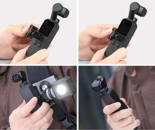 ACHICOO Os-mo Pocket Data Port für kalten Schuh Universal Mount D-J-I Os-mo Pocket Handheld Gimbal Adapter Holder Erweiterung Spaßgeschenke für Kinder