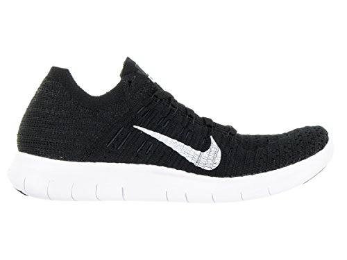 Nike Wmns Free Rn Flyknit, Chaussures de Running Entrainement Femme Black/White