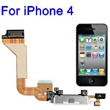 Tail Connector Charger connettore flat dock syncro ricarica per iPhone 4 bianco