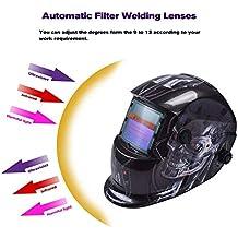 LAIABOR Máscara Soldador Soldador oscurecimiento automático Solar Casco de Soldadura Solar-Alimentado de Oscurecimiento Soldadores