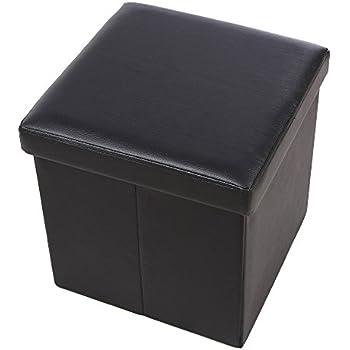 Design Sitzwürfel Kubus I Kunstleder Hocker 45x45x45 cm modern in ... | {Hocker modern schwarz 62}