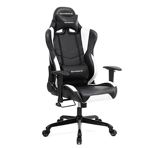 SONGMICS Chaise gamer Fauteuil de bureau Chaise pour...