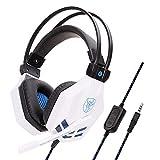 Komfortable Geräuschreduzierung Kristallklarheit 3,5 Mm, Immersiv Für Ps4-Gaming-Headset Mit Mikrofon Für Xbox One Pc-Laptop Mac-Weiß Kopfhörer