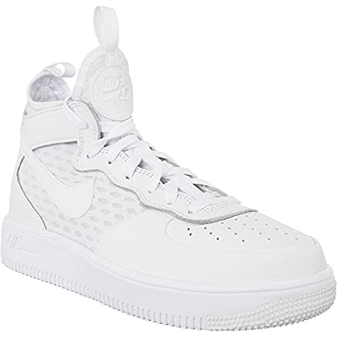 Nike Air Force 1 Ultraforce Mid Women Sneaker Trainer (40, white/white)
