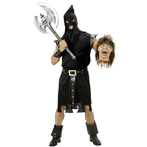 NET TOYS Henker Kostüm Tod Mittelalterkostüm L 52 Mittelalter Henkerkostüm Horror Halloweenkostüm Henkers Gruselkostüm Horrorkostüm Herren Karnevalskostüme Erwachsene (Gruselkostüme)