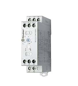 Finder 835202400000PAS Relais temporisé fond d'armoire multifonction multi-tension 2RT 10 A 24 à 240 Vac/dc Tempo 0,05 s à 10 jours