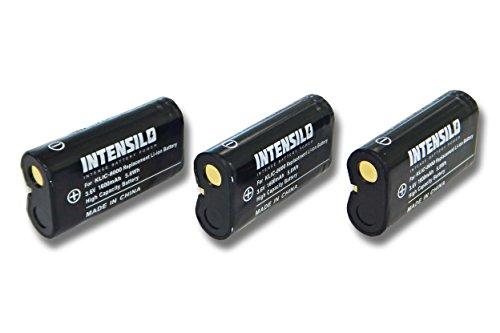INTENSILO 3X Li-Ion Akku 1600mAh (3.6V) für Kamera Camcorder Video Kodak EasyShare Z1012 is, Z1015 is, Z1085 is, Z1485 is Wie Klic-8000, DB-50.