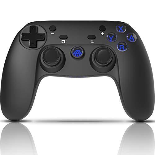 CHEREEKI Mando Inalámbrico, Controlador Switch, Controlador Inálambrico Azul para Nintendo Switch Gamepad Mando de Juegos (Función de Eje giroscópico de Soporte)