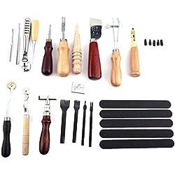 Yosoo - Lote de 20 herramientas de costura de cuero