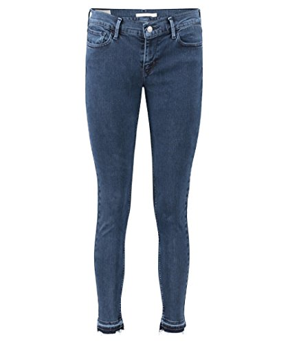 Levis Damen Jeans 710 SUPER Skinny 17780-0042 Dunkelbau Ski Lodge, Hosengröße:28/30
