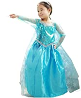 Vestito principessa Bambina Dress Carnevale Costume Bimba childen Blu 808