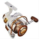Yajiemei Moulinets Spinning Fishing 12 + 1 Poids léger, roulements Ultra-Lisses et puissants, poignée de Droite à Droite et Interchangeable avec système de freinage à Double Tirette (Size : 4000)