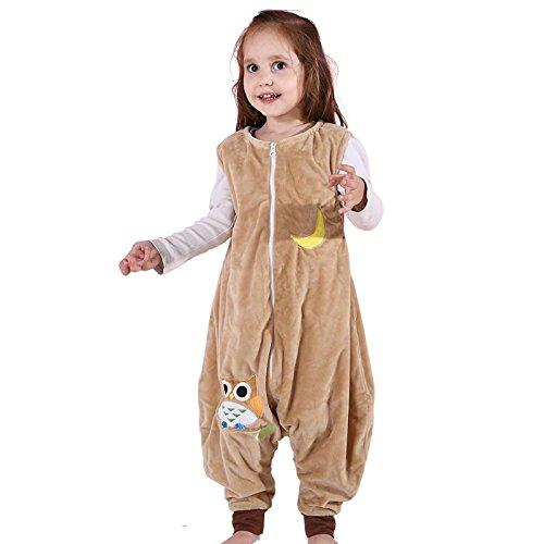 Auspicious beginning Manta ponible de Sleepsack franela, pijamas ligeros sin mangas de niña