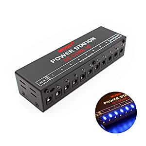 beaspire guitar pedal power supply 10 isolated dc output for 9v 12v 18v effect pedal with dc. Black Bedroom Furniture Sets. Home Design Ideas