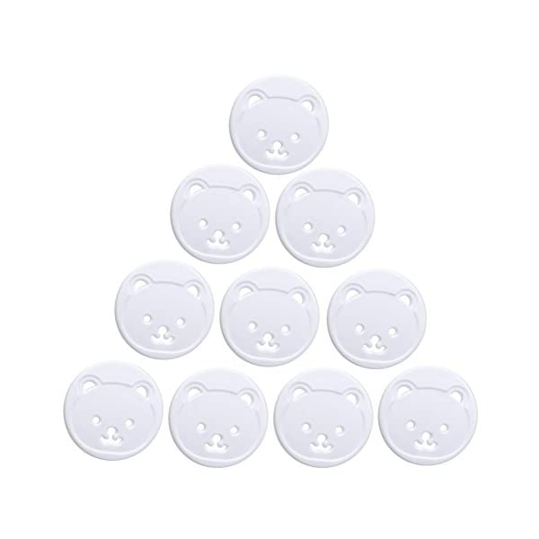 RROVE 10X Power Kid Socket Cover Baby Child Protector Guard Mains Point Plug Bear Nuevo 1