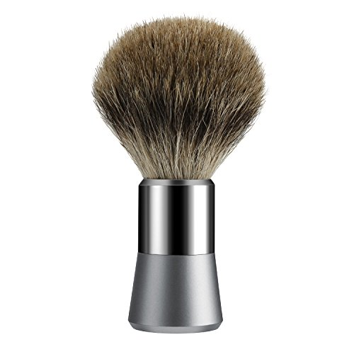 Tezam Pennello da barba, con 100% setole di puro tasso, fatto a mano, manico Cromo, barbiere uomini apparecchi di pulizia del viso e la barba