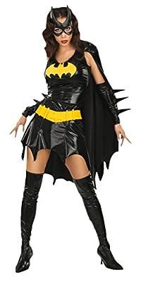 Rubies 3 888440 - Damenkostüm Batgirl (Kleid mit Cape, Armstulpen, Vinylmaske, Vinylgürtel, Stiefelstulpen)